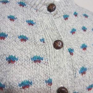 American Eagle, Small, Wood/nylon Cardigan